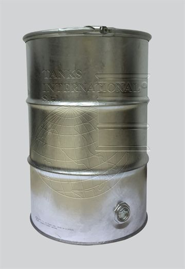 Metallic open-head drum - 217 litres volume with drain for liquid products galvanized