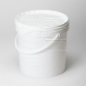 Plastic pail of 10 lt