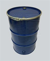 Metallic open-head drum - 217 litres volume with side drain for liquid products