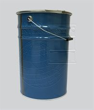Cone-shaped metallic open-head drum - 32 litres volume lacquered