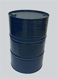 Metallic  lacquered  drum with  caps  – increased capacity - 225 litres volume