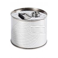 Stainless steel drum with screw cap - 6 litres volume