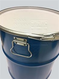 Metallic drum open-head - 60 litres volume for solid products