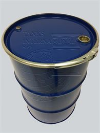 Metallic open-head drum - 217 litres volume for liquid products lacquered