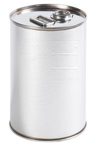 Stainless steel drum with screw cap - 25 litres volume